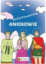 Aniołowie - kolorowanka - okładka książki