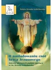 O naśladowaniu cnót Serca Jezusowego - okładka książki
