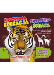 Kolorowa edukacja Zwierzęta świata. - okładka książki