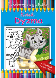 Kotek Dyzma. Pokoloruj swoją bajkę - okładka książki