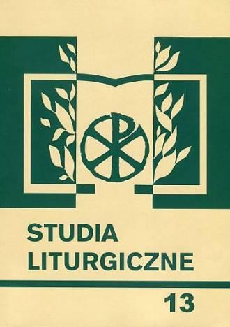 Studia liturgiczne. Tom 13. Liturgia - okładka książki