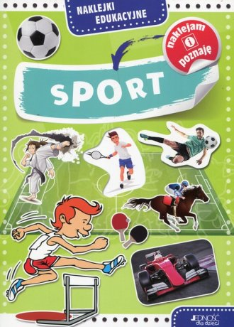 Naklejki edukacyjne. Sport - okładka książki