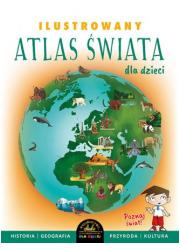 Ilustrowany atlas świata dla dzieci - okładka książki