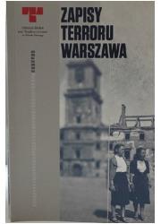 Zapisy terroru Warszawa - okładka książki