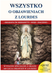 Wszystko o objawieniach z Lourdes - okładka książki