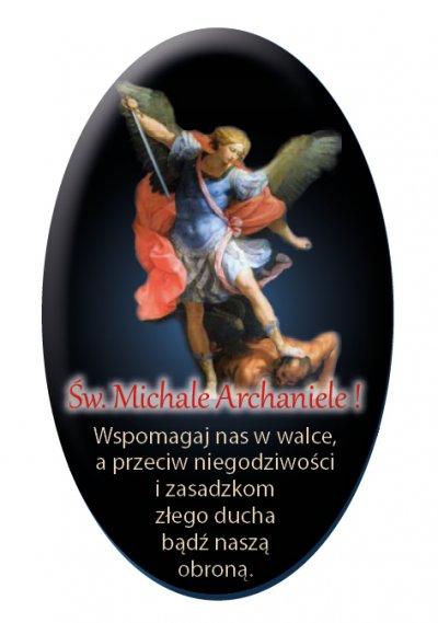 Naklejka samochodowa Michał Archanioł - zdjęcie dewocjonaliów