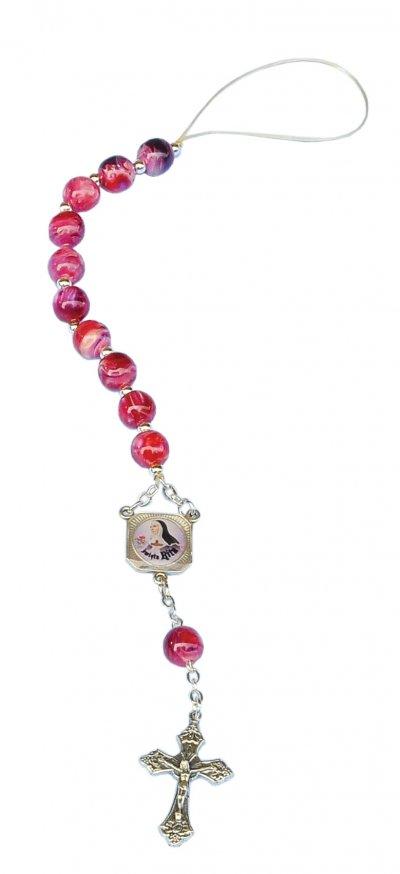 Różaniec samochodowy - św. Rita - zdjęcie dewocjonaliów