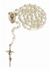 Różaniec pierwszokomunijny perełkowy - zdjęcie dewocjonaliów