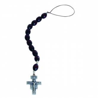 Różaniec samochodowy - Krzyż św. - zdjęcie dewocjonaliów
