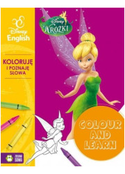 Colour and learn! - Wróżki. Koloruje - okładka książki
