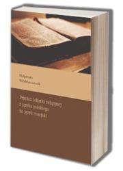 Przekaz leksyki religijnej z języka - okładka książki