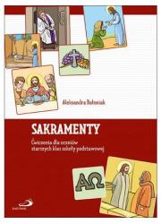 Sakramenty ćwiczenia dla uczniów - okładka książki