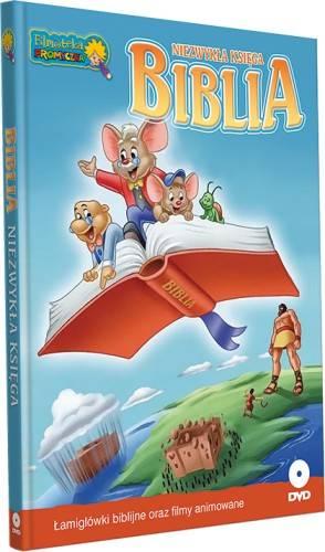 Biblia niezwykła księga (+ DVD) - okładka książki