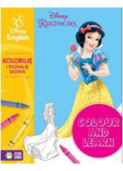Colour and learn Księżniczki Koloruję - okładka książki
