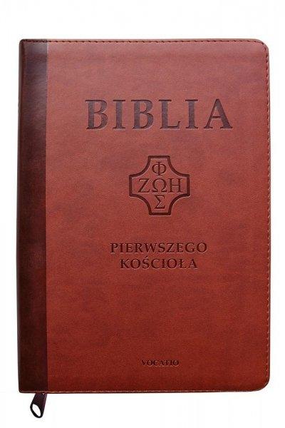 Biblia Pierwszego Kościoła kasztanowa - okładka książki