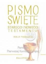 Biblia Tysiąclecia duża TW (komunia) - okładka książki