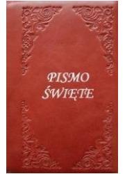 Biblia Tysiąclecia - oazowa, bordo, - okładka książki