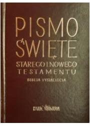 Biblia Tysiąclecia - skórzana, - okładka książki