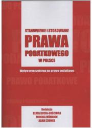 Stanowienie i stosowanie prawa - okładka książki