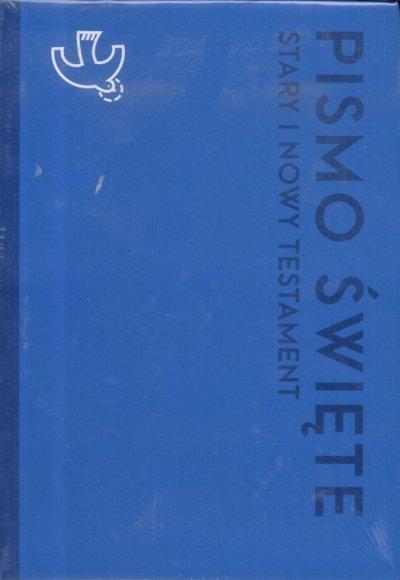 Pismo Święte ST i NT duże niebieskie - okładka książki