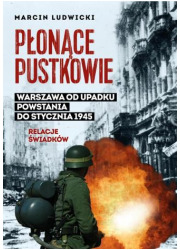 Płonące pustkowie. Warszawa od - okładka książki