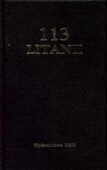 113 litanii czarne - okładka książki