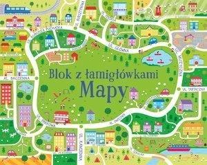 Mapy. Blok z łamigłówkami - okładka książki