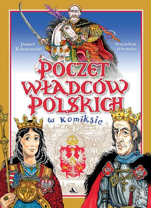 Poczet władców polskich w komiksie - okładka książki