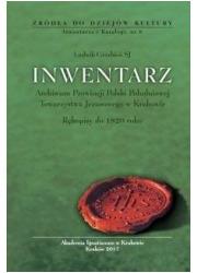 Inwentarz Archiwum Prowincji Polski - okładka książki