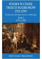 Polska w czasie trzech rozbiorów, - okładka książki