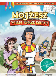 Mojżesz. Wielki Książę Egiptu (kolorowanka - okładka książki