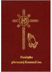 Pamiątka I Komunii Św. - modlitewnik - okładka książki