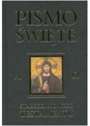 Pismo Święte ST i NT czarne z paginatorami - okładka książki