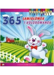 365 łamigłówek i kolorowanek - okładka książki