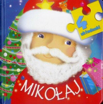 4 układanki. Mikołaj - okładka książki