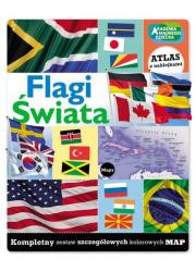 Flagi świata. Zeszyt z naklejkami - okładka książki