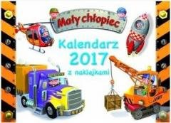 Kalendarz ścienny 2017 z naklejkami. - okładka książki