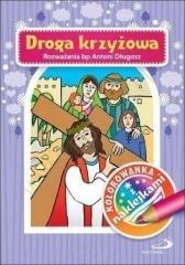 Kolorowanka Droga Krżyżowa + naklejki - okładka książki