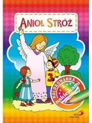 Kolorowanka z naklejkami. Anioł - okładka książki