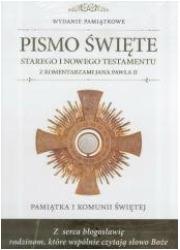 Pamiątka I Komunii Św. Pismo Św. - okładka książki