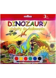 Plakaty do malowania. Dinozaury - okładka książki