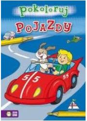 Pojazdy - pokoloruj - okładka książki