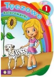 Tęczowe kolorowanki cz. 1 - okładka książki