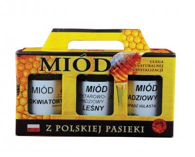 Zestaw prezentowy. Miody z polskiej - zdjęcie akcesoriów
