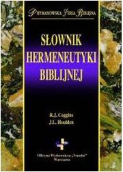 Słownik hermeneutyki biblijnej. - okładka książki