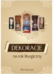 Dekoracje na rok liturgiczny - okładka książki