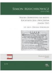 Nauka zbawienna na missyi Societatis - okładka książki