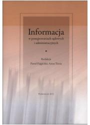 Informacja w postępowaniach sądowych - okładka książki