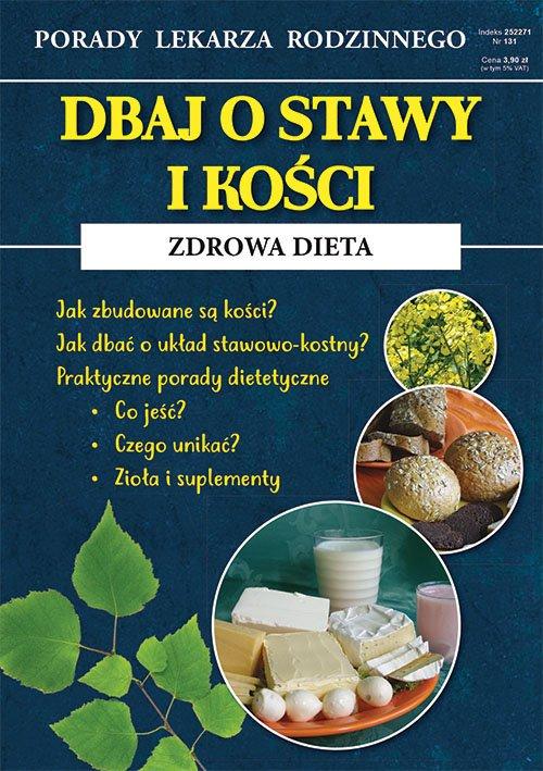 Dbaj o stawy i kości Zdrowa dieta. - okładka książki