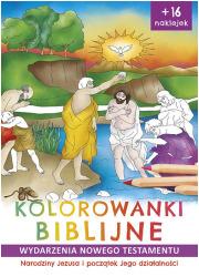 Kolorowanki biblijne Nowy Testament. - okładka książki
